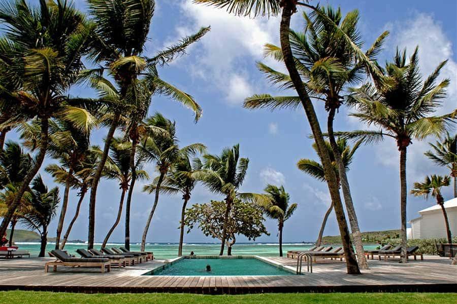 A tropical pool resort at Le Sereno, St. Barth's