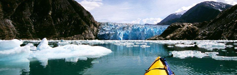 Escape To Alaska canoe on an alaskan river